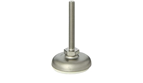 100mm Base Diameter Shot-Blast Finish J.W 31-100-M24-100-B1-UK 100mm Thread Length Inc M24 x 3.0 Thread Size Winco 24N100R49//AK Series GN 340.5 Stainless Steel Leveling Mount with Black Rubber Pad Inlay and Nut Metric Size