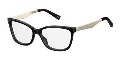 Marc Jacobs Plastic Rectangular Eyeglasses 54 0807 Black by Marc Jacobs