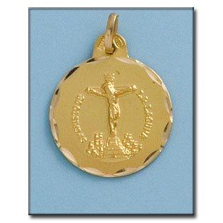 Médaille D'or 18kt Cristo De La Laguna 21mm
