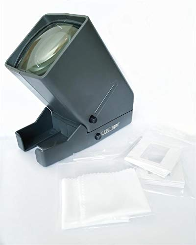 Medalight Portable 35mm Film LED Slide and Negative Viewer with Six Slide Mounts and Two Lens Cleaning -