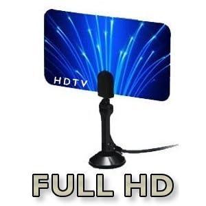 Digital Flat Thin Leaf Tv Antenna HDTV Antenna UHF/VHF FM Radio - FlagShip Model
