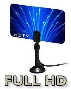Digital Flat Thin Leaf Tv Antenna HDTV Antenna UHF/VHF FM Radio - FlagShip Model by Unique Imports