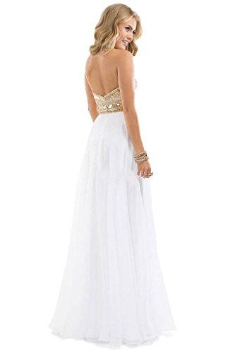 Aurora Dresses Gold White Rose Chiffon Sparkle Sweetheart Bridal Evening 2016 Yellow qzw8rAZnqx