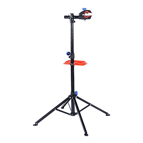 S AFSTAR Pro Mechanic Bike Repair Stand Adjustable 41'' To 75'' Cycle Rack Bicycle Workstand with Tool Tray by S AFSTAR