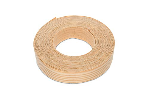 22mm Real Pine Iron On Edging Strip High Quality 7 5m Roll