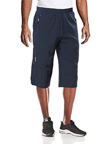 MAGCOMSEN Capri Pants Men Outdoor Shorts Capri Pants Shorts Below Knee Shorts for Men Navy ()