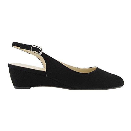 Paula Alonso Chaussures en Cuir fendus Noir GObmUxWwiu