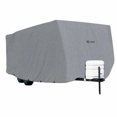 Classic Accessories PolyPRO1 Travel Trailer RV Cover, Fits Travel Trailers 33' to 35' Long, 118