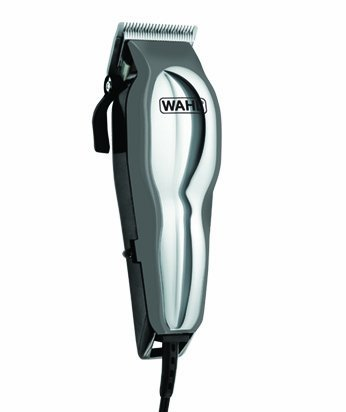 Wahl Pet-Pro 13 Piece Pet Grooming Kit - Deluxe Series, with PowerDrive Cutting System, and High Carbon Steel Blades, with 4 Attachment Combs, Includes Instructional DVD, Scissors, Styling Comb, Hand Mirror, Hard Storage Case w/Handle, Chrome/Gray Finish