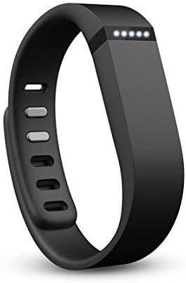 Fitbit Flex Large Wristband Wireless Tracker Activity Sleep Black FB401BS (Renewed)
