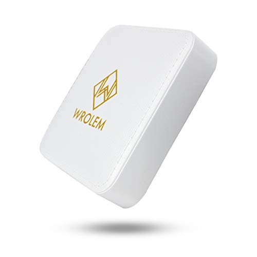WROLEM Portable Charger, The Smallest and Lightest 6000mAh External Battery, Ultra-Compact High-Speed-Charging-Technology Power Bank for iPhone, Samsung Galaxy and More (White)