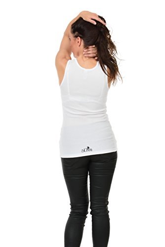 Estate Print Top Top White Canotta Fashion canne Chic Girl Donna Grey 3 Canotta Lady Sexy zxaSIq