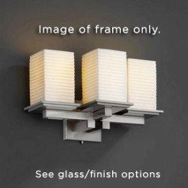 Mblk Matte 8676 (Justice Design FSN-8676-15-WEVE-MBLK Montana Three Light Wall Sconce, Glass Options: WEVE: Weave Glass Shade, Choose Finish: Matte Black Finish, Choose Lamping Option: Standard Lamping)