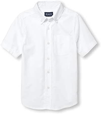 The Children's Place Boys' Short Sleeve Uniform Oxford Shirt