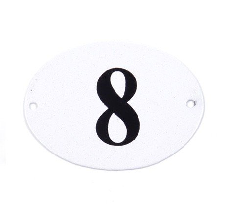 LA BBV Emaille - Cartel (/Cartel de Chapa - Ovalado (Número ...
