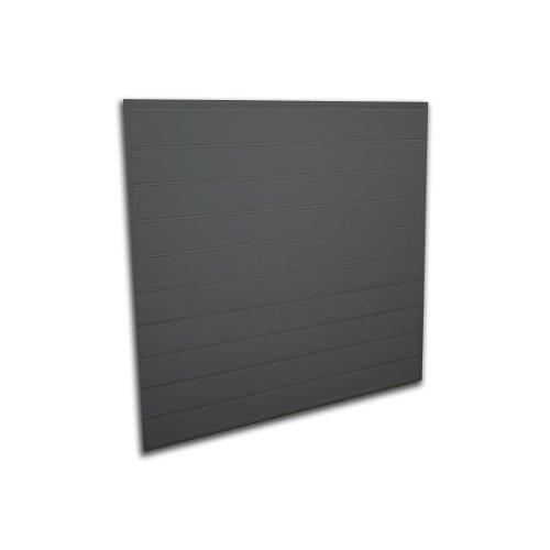 Proslat 88104 Heavy Duty PVC Slatwall Garage Organizer, 4-Feet by 4-Feet Section, Charcoal