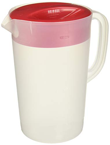 Rubbermaid 711717429960 Gallon Covered Pitcher 1 Gallon (Set of 2), White