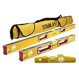 Stabila Classic 196 3 Level Set Includes 48'/24'/25100 Torpedo and 30015 Case