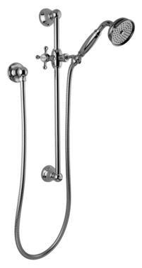 Graff G-8600-C2S-SN - Traditional Handshower w/Wall-Mounted Slide Bar - Steelnox (Satin ()