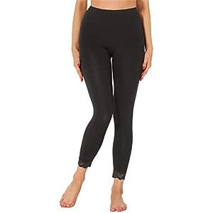 Merry Style Legging 7/8 Tenue Sport avec Dentelle Femme MS10-342