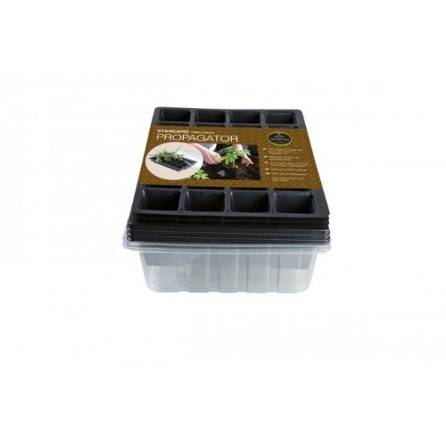 Standard Propagator Triple Pack (Contains 3 x Seed Tray, 24 cell Inserts, Lids) Gardening Garland