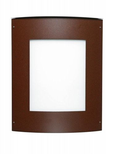 Besa Lighting 109-842207-BR 2X60W E12 Moto 13 Square White Outdoor Lighting Fixtures, Bronze Finish ()