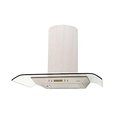 """NuTone NS5430SS 350 CFM Wall Mount Chimney Style Range Hood, 29-1/2"""", Stainless Steel"""