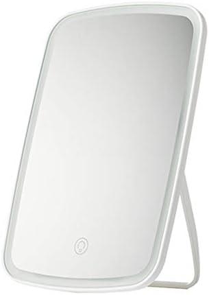 ポータブル化粧鏡 角度調節のために完璧なメイクアップまたはシェービング、大きな長方形の反射領域、白 回転式化粧鏡 (色 : 白, Size : 16.8x2.5x27cm)