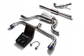 Armytrix sportiva performance di scarico per sistema di scarico Scirocco R Dual blu punta rivestita Armytrix Exhaust