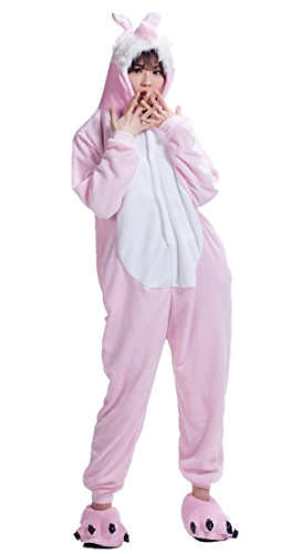 Pink Easter Bunny Rabbit Kigurumi Pajamas Anime Costume XL