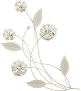 Alliums Cream Metal Wall Art 662400600 Amazon Co Uk Garden Outdoors