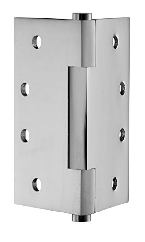 Chrome Solid Brass Hinges - Eisen Hardware 004PC Polished Chrome Square Barrel Solid Brass Door Hinges Pair, 4