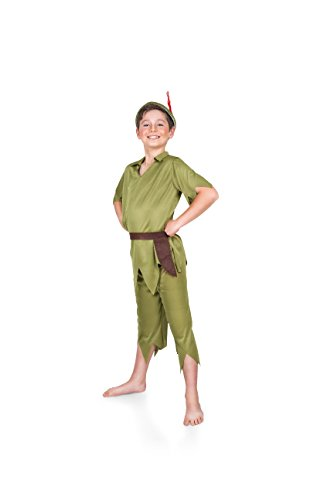 Boy's Peter Pan Boy Costume Set, Costume Party Accessory - Small ()