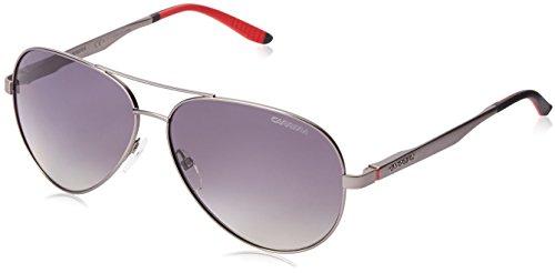 Carrera CA8010S Polarized Aviator Sunglasses, Semi Mat Dark Ruthenium & Gradient Shadow Polarized, 59 - Uv Carrera Protection