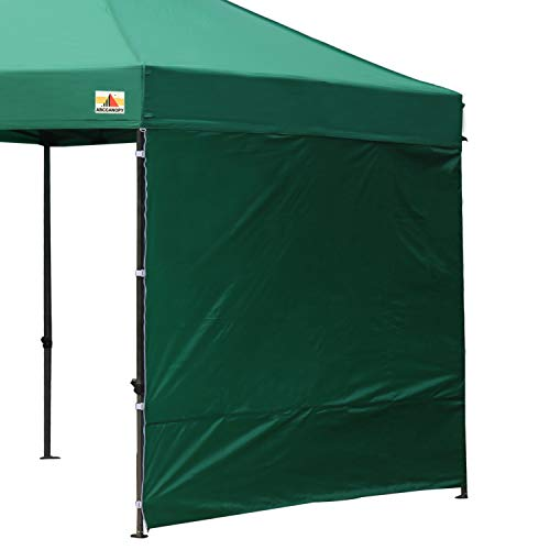 ABCCANOPY 15+Colors 10' Sun Wall for 10'x 10' Straight Leg pop up Canopy Tent, 10' Sidewall kit (1 Panel) with Truss Straps, (Forest Green) ()