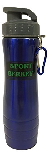Berkey Maker Stainless Steel Water Bottle - 24oz Capacity (Blue)