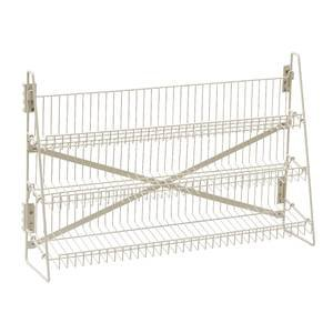 Wire Candy Snack Rack, 3 Tier, Counter or Mount, 36''W, Beige by Retail Resource
