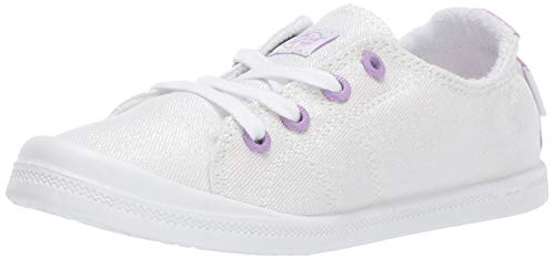 Roxy Girls' Little Mermaid RG Bayshore Slip On Sneaker Shoe, Off Off White, 5 M US Big Kid