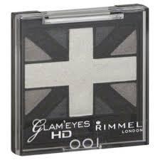 Black Cabs London (Rimmel London Glam'Eyes HD Quad Eye Shadow, Black Cab 001)