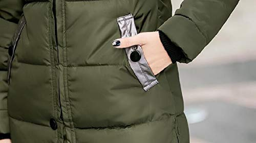 Parka Hooded Women's Green Down Jacket Coats Thickened security Winter Long Outdoor qpR5nxf