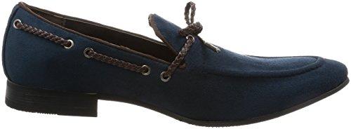 An Hombres Zapatos De Conducción Zapatos Casuales Opera Loafer Suede Feel Slip On Navy 41 Eu (us Hombres 8.5 M)
