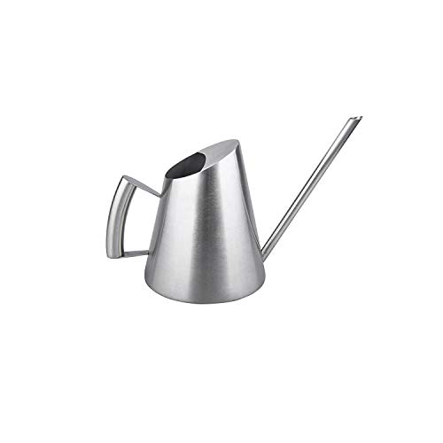 IMEEA Watering Can Modern Small Size for Bonsai in The Office or for Kids 11oz/300ml Brushed Solid SUS304 Stainless Steel ()