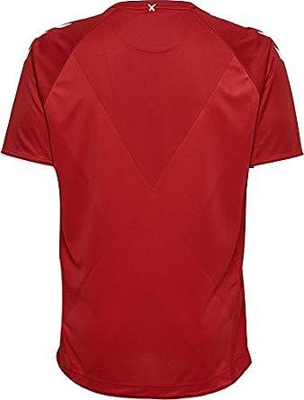 Hummel DBU Home Jersey SS Camiseta de Dinamarca para niños, Tango Red, Small Adulto: Amazon.es: Ropa y accesorios