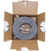 Plenum Grey 1000ft Bare Copper Cat5e Bulk Cable Distributed by NAC Wire and Cables Solid Wire 350MHz