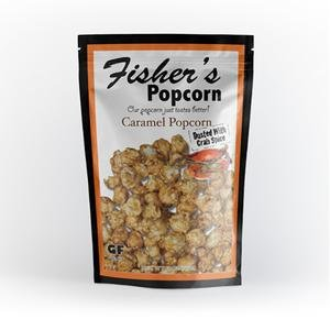 Fisher`s Popcorn 50 - 2 oz. bags of Caramel Dusted with Crab Spice by Fisher's Popcorn
