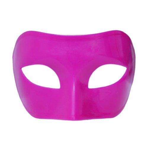 Custom Mardi Gras Masks - Pink Venetian Masquerade Mask ~ Mardi Gras Prom Party Accessory (STC12911)
