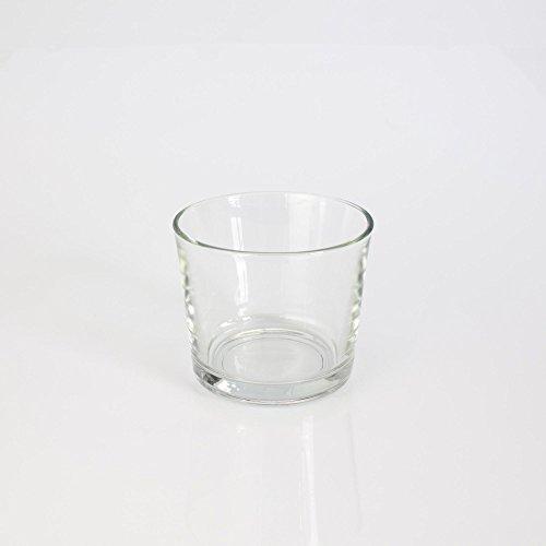 Kleines Windlicht / Glasvase ALENA, klar, 8,5cm, Ø10cm - Tischlicht / Konische Vase