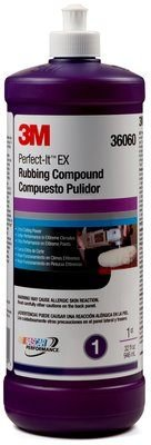 3M(TM) Perfect-It(TM) EX Rubbing Compound, 36060, Quart, 6 per case (Rubbing Compound Quart)