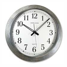 Artistic 401ZWA Wall Clock, Galvanized Metal, 16
