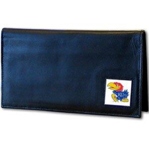 Siskiyou NCAA Kansas Jayhawks Leather Checkbook Cover
